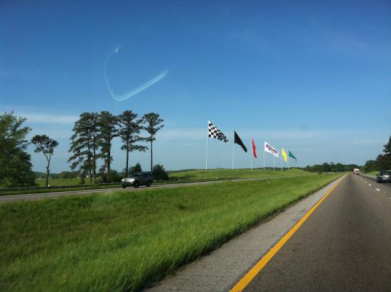 Flags outside Talladega Superspeedway