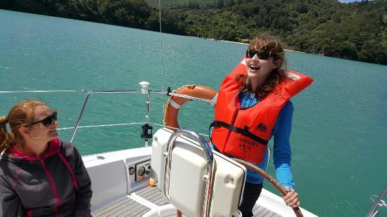 Marlborough, Yeni Zelanda: Daughters first sail!