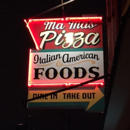 Mama's Pizza: Sign out Front