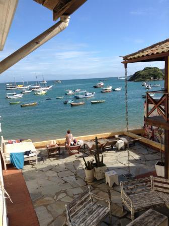 Nomad Buzios Seashore Hostel: Vista do meu quarto