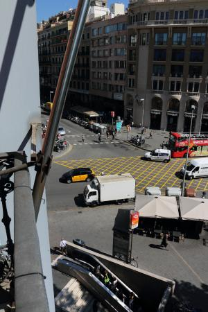 H10 Catalunya Plaza: View from balcony