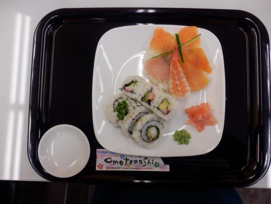 Sushi North: オーロラセット。ネタを極北イワナに変更。
