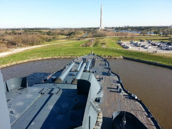 On the ship picture of battleship texas state historic for Visit la porte tx