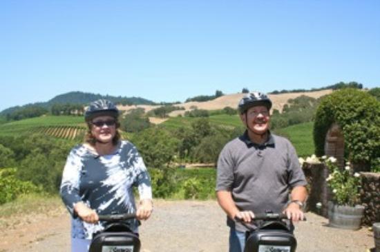 Segway of Healdsburg : Cheers-2-Wine riding the segways in Healdsburg, CA