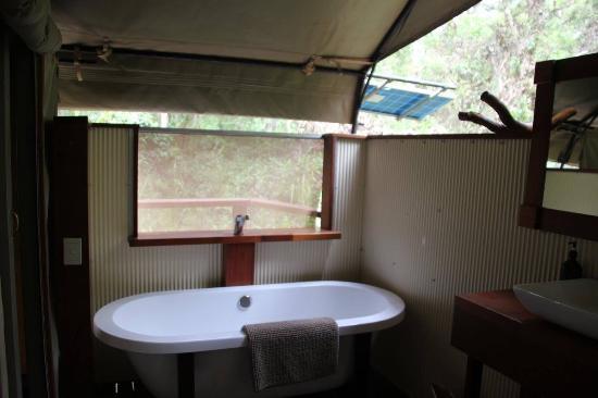 Woollamia, Αυστραλία: Tent Bathroom