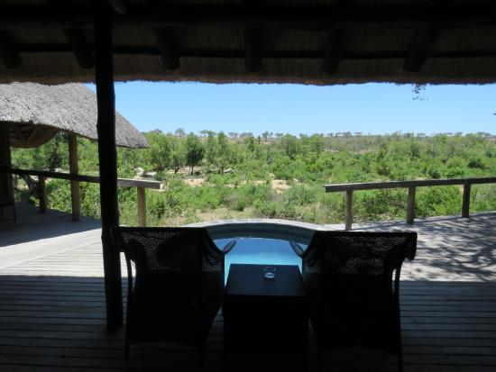 Londolozi Private Game Reserve, Afrika Selatan: Varty Chalet Deck