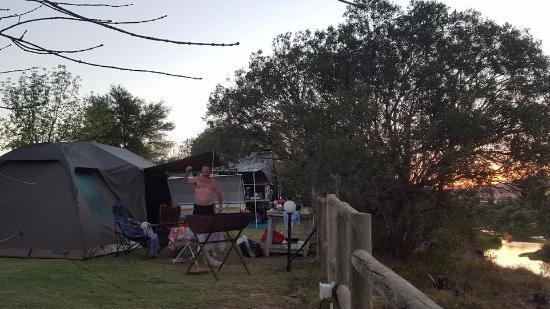 Hermon, جنوب أفريقيا: Our campsite