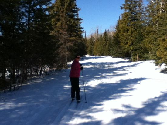 Geraldton, Canada: X-country skiing in the winter