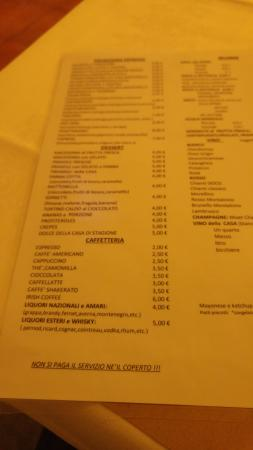 Province of Pisa, Italia: menu