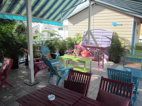 Hotel de la Plage: la terrasse