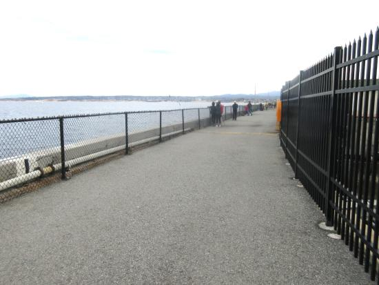 Walk Way and Fishing Area, Coast Guard Pier, Monterey, Ca