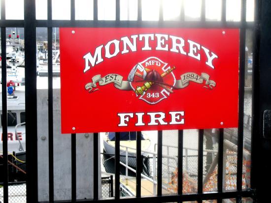 Monterey Fire Boat Sign, Coast Guard Pier, Monterey, CA