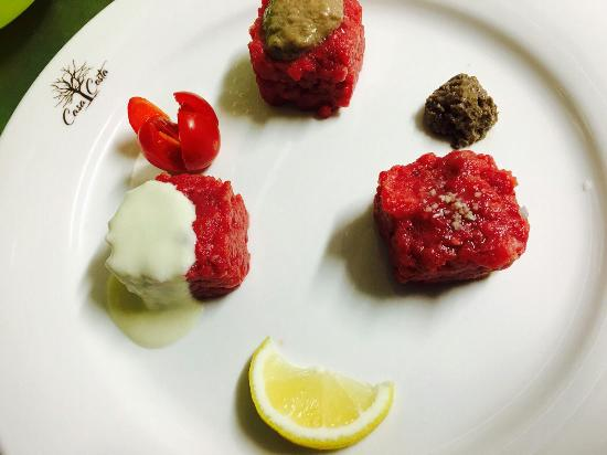 Grazzano Badoglio, อิตาลี: Il tris di carne cruda