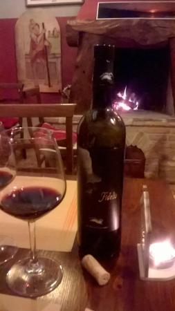Mondaino, Italien: Ottimo vino, camino.