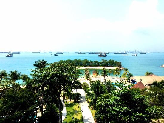 A Beautiful View Of Sentosa From The Garden Area Hotel Siloso Beach Resort