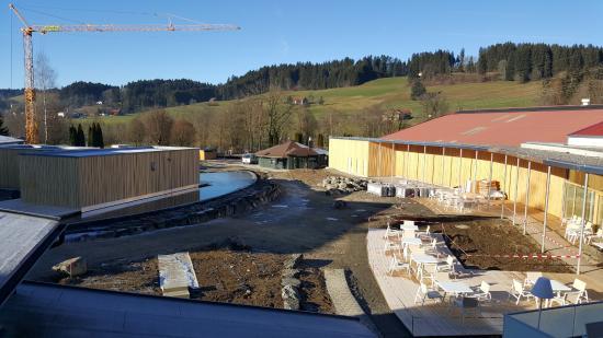 Weiler-Simmerberg, Tyskland: Aussicht aus dem Zimmer