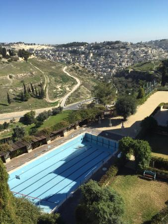 Mount Zion Hotel: the amazing view from our room including the pool