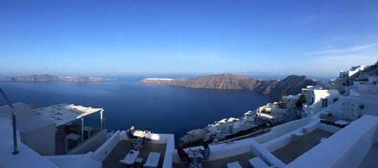 White: Breathtaking view of the caldera
