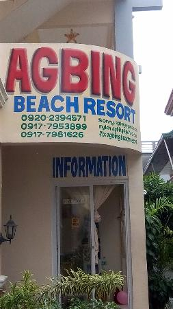 Agbing Beach Resort: Reception