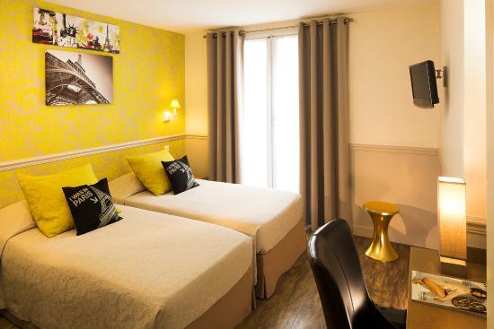 Hotel de la cite Rougemont: Chambre deux lits