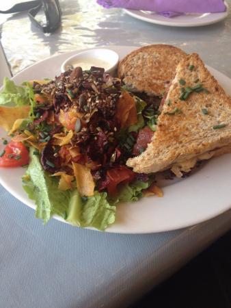 Lark Cafe: Wonderful Bacon Turkey Sandwich with a side salad
