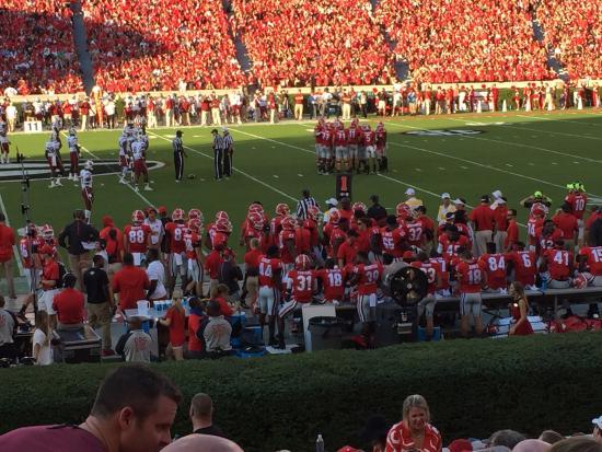 Athens, Джорджия: Sanford Stadium Georgia vs South Carolina Game
