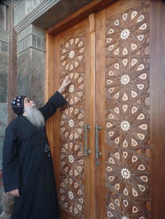 Deir Mar Mina (St. Mina Monastery): front door