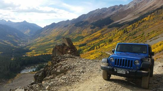 Mountain Village, CO: Colorado 145 Jeep Rentals - Fall colors in Ophir, CO