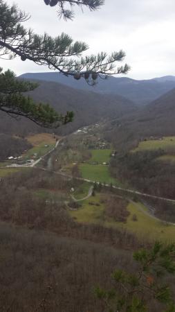 Seneca Rocks, WV: view from top observation platform