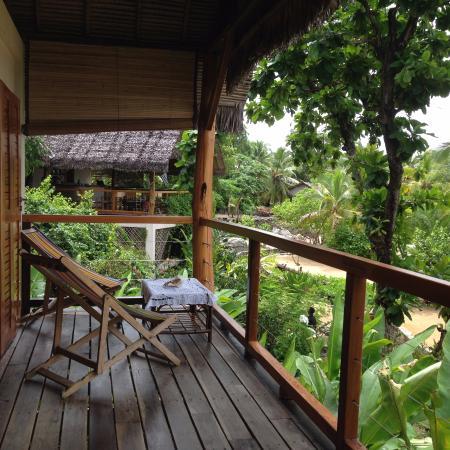 vue du bungalow, coco Komba Lodge