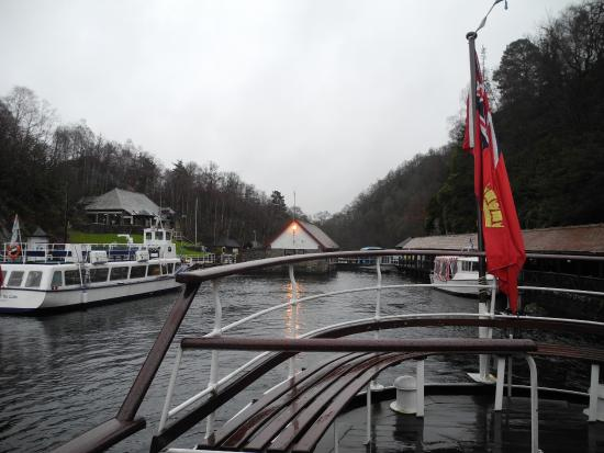 Loch Lomond and The Trossachs National Park, UK: Leaving the pier