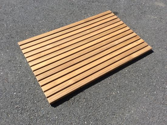 Grafton, VT: Teak floor mat for a hot tub