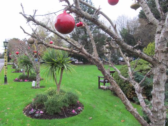 Christmas decorations in the grounds