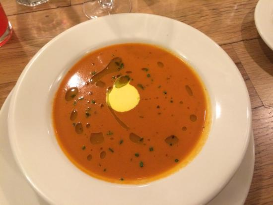 Evergreen Lodge at Yosemite Restaurant : Crab and Shrimp bisque from New Years Eve! Yummy