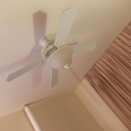 สเตย์ ออน เมน โฮเต็ล แอนด์ โฮสเทล: 834号室。天井に扇風機付きの照明。