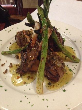 Gladwin, MI: Rosemary Pistachio crusted Lamb Chops with Mint sauce