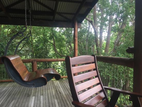 Secrets on the Lake: That Wooden Swing Chair is SO GOOD
