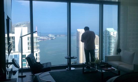 Hotel Beaux Arts Miami: my husband enjoying the view