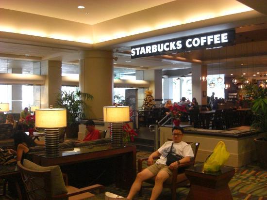 Starbucks Coffee Ala Moana Hotel, 入り口
