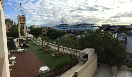 Rendezvous Hotel Sydney The Rocks : View From Room 514 (view blocked by cruise ship)