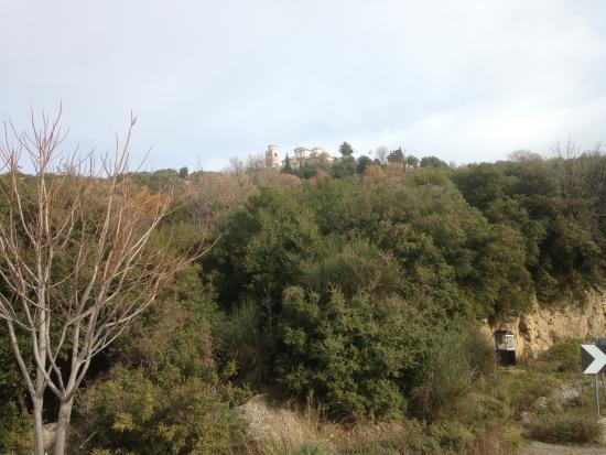 Chrissi Nefeli Traditional Houses: Monastery of the Holy Archangels on top of the hill