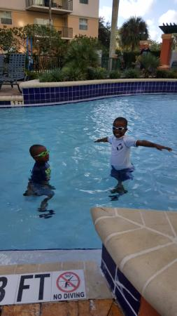 Wyndham Palm-Aire: Kids in the pool