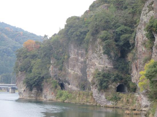 Honyaba Valley: 青の洞門全景