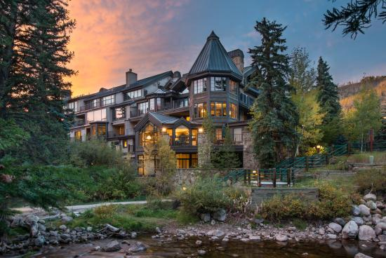 Vail Mountain Lodge: Fall Lodge Image with Gore Creek