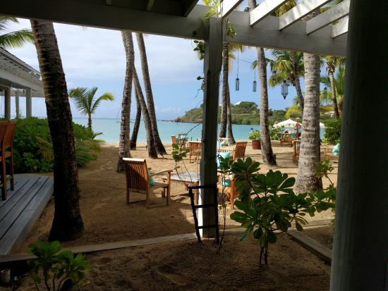 Carlisle Bay Antigua: View from Indigo restaurant