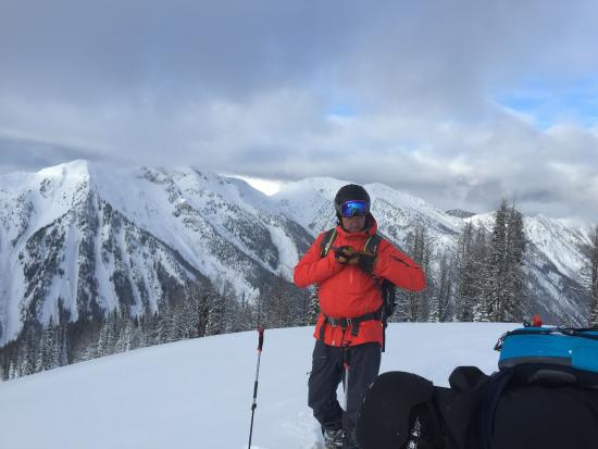 Kaslo, Canada: Jason Remple getting set for another run
