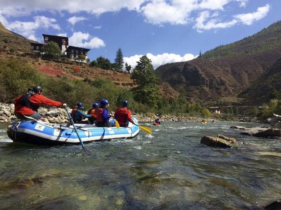 Hood River, OR: NWRC rafting by a monastery.