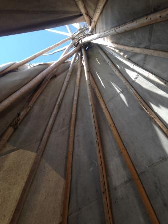 St. Andrews, Canada : Inside the tipi.