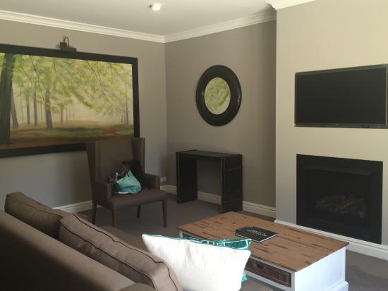Blackheath, Australie : Lounge area in cottage