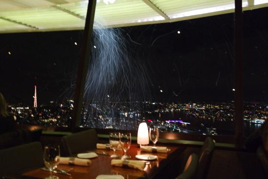 Space Needle Sky City  Artificial snow blowing outside Artificial snow blowing outside    Picture of Space Needle Sky  . Dinner Seattle Space Needle. Home Design Ideas